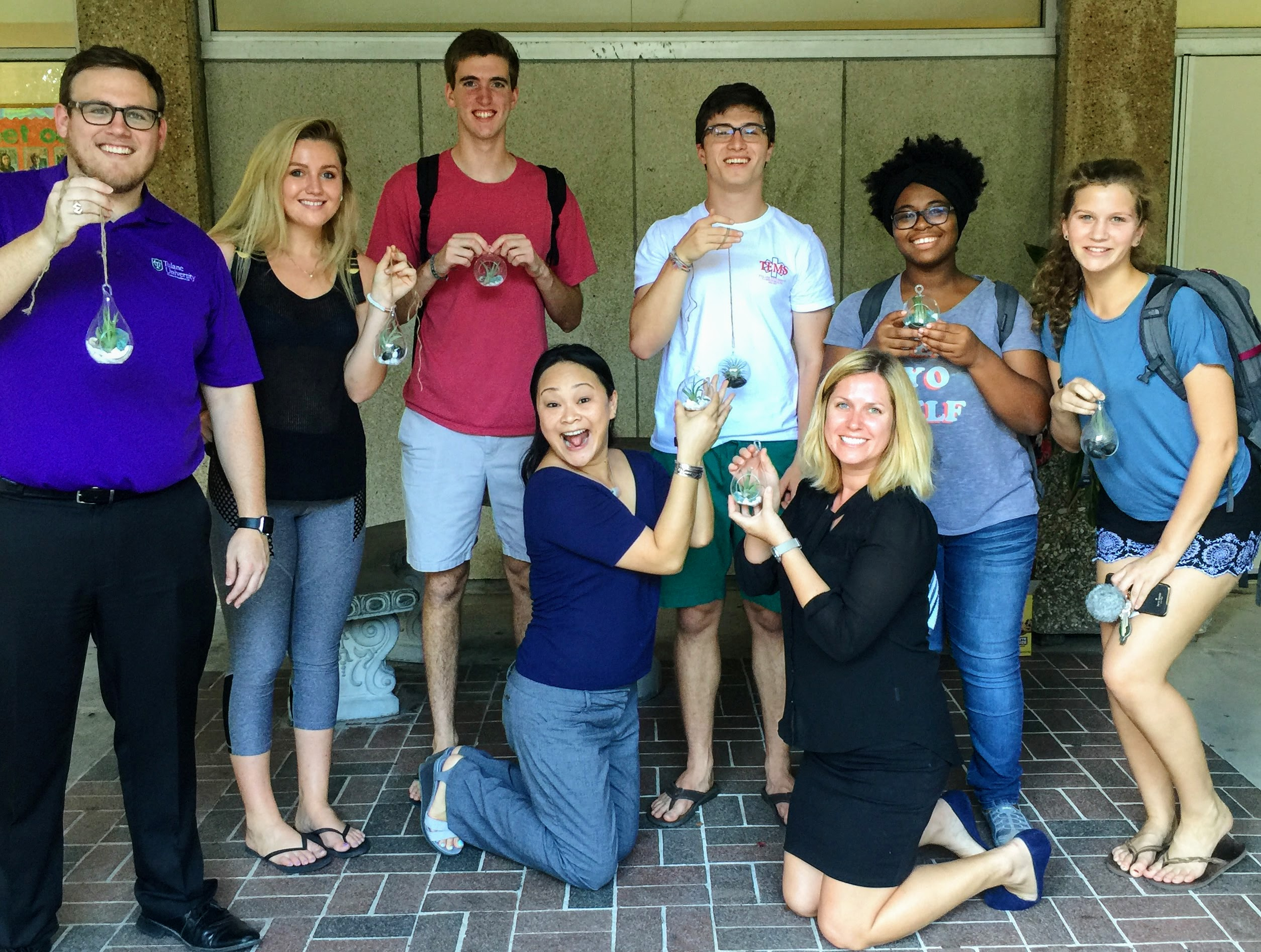 butler hall residential faculty mentors and students make terrariums