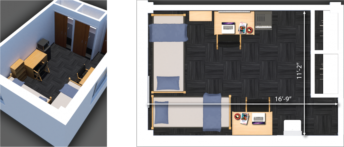 paterson two person room plan