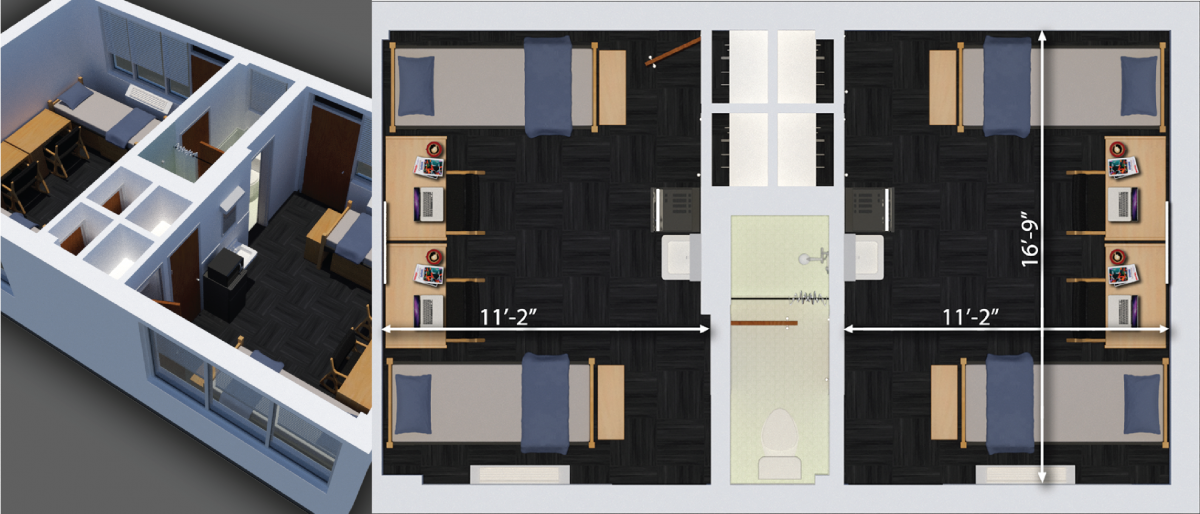 paterson four person room plan