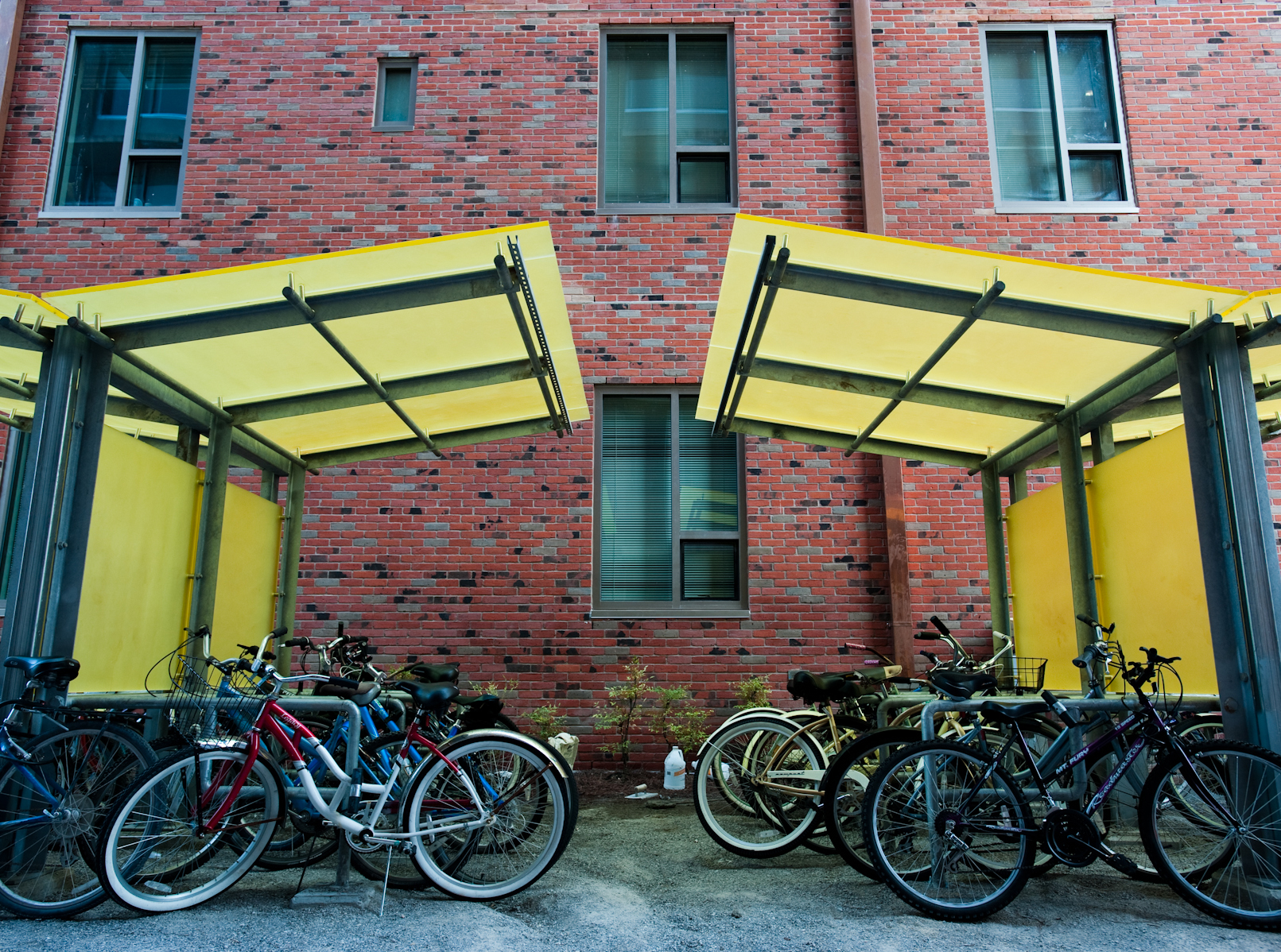 bike racks outside of weatherhead hall