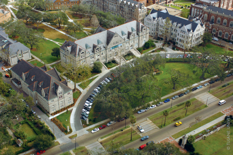 A top view of the Tulane campus